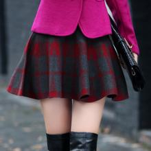 2016 spring hot sell preppy chic red casual short skirts women's scotland skirt tartan kilt
