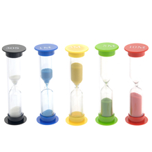 5pcs 30second/1minute /3minutes /5minutes /10minutes Colorful Hourglass Sandglass Sand Clock Timers (Random Color)(China (Mainland))