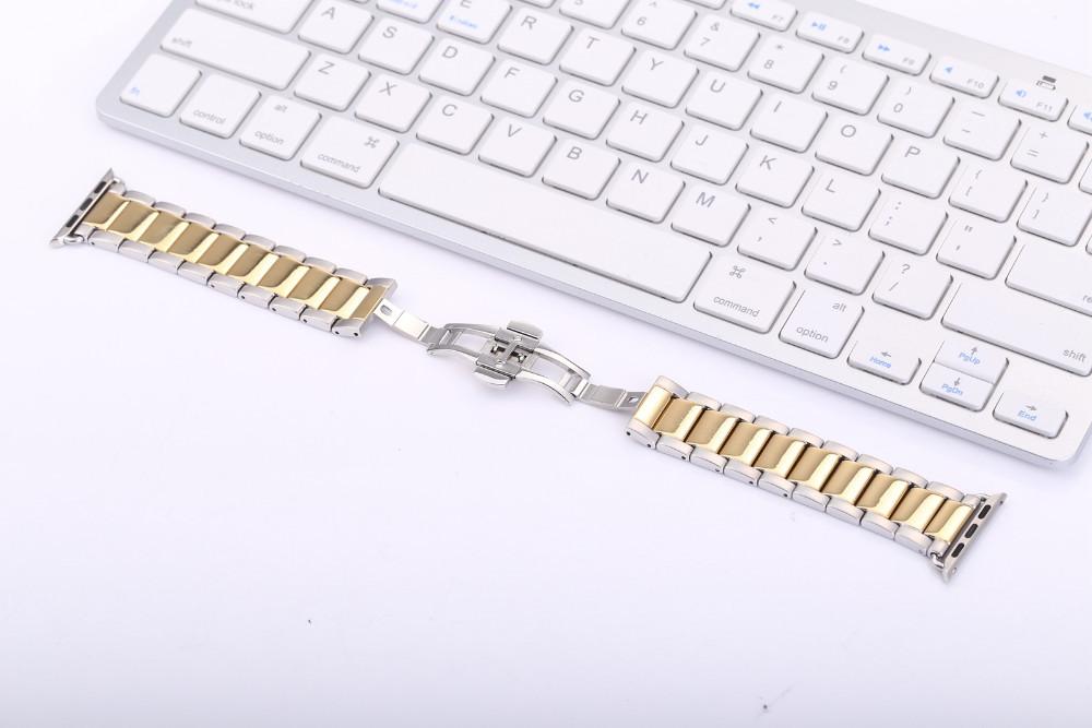 316L Нержавеющей Стали Современный дизайн Новый Браслет Из Нержавеющей Стали Классический Пряжки Ремешок Для часов для Apple Watch