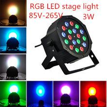 Здесь можно купить  free DHL New Led Stage Light High Power RGB Par Light With DMX512 Master Slave Led Flat DJ Equipments Controller  Свет и освещение