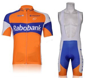 2012 low price fashion design high quality rabobank racing jersey upper or short culot made of high quality quick dry material(China (Mainland))