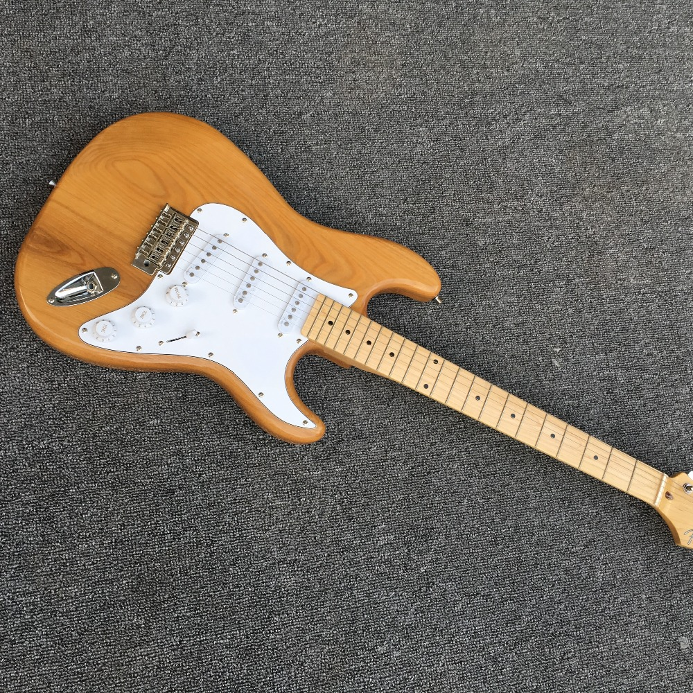 New ST elm electric guitar, provide EMS delivery, factory wholesale and retail, can modify the custom. Two spell elm(China (Mainland))