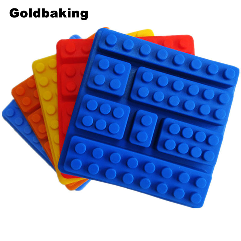 Silicon Cake Moulds Building Bricks Lego Robot Silicone Chocolate Mold Ice Cube Tray(China (Mainland))