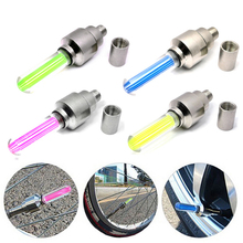 2PCS Car Bike Bicycle Car Wheel Tire Valve Cap Spoke Neon Flash LED Lights Lamp(China (Mainland))