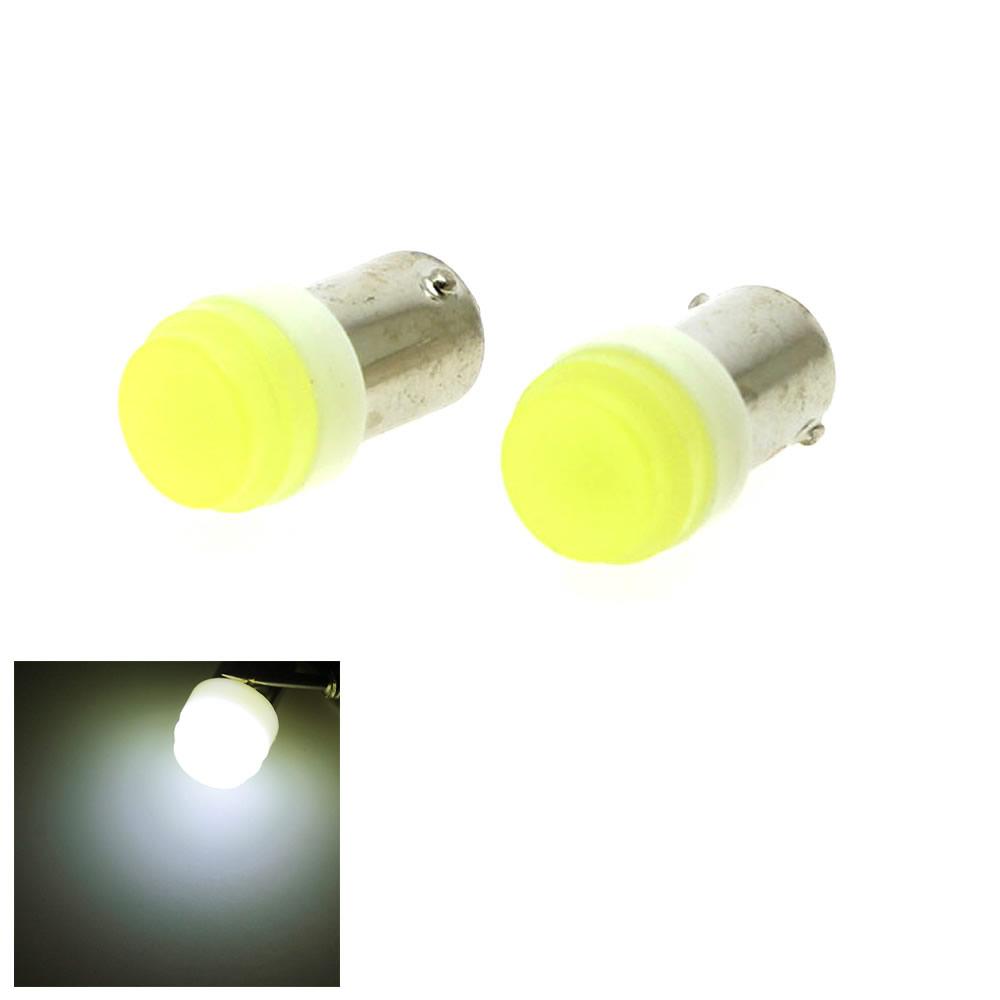2pcs 12V auto Car Interior LED BA9S 1W White Ceramic High Power Bulb Reading Light Lamp Bulb t4w styling lamp bulb signal(China (Mainland))