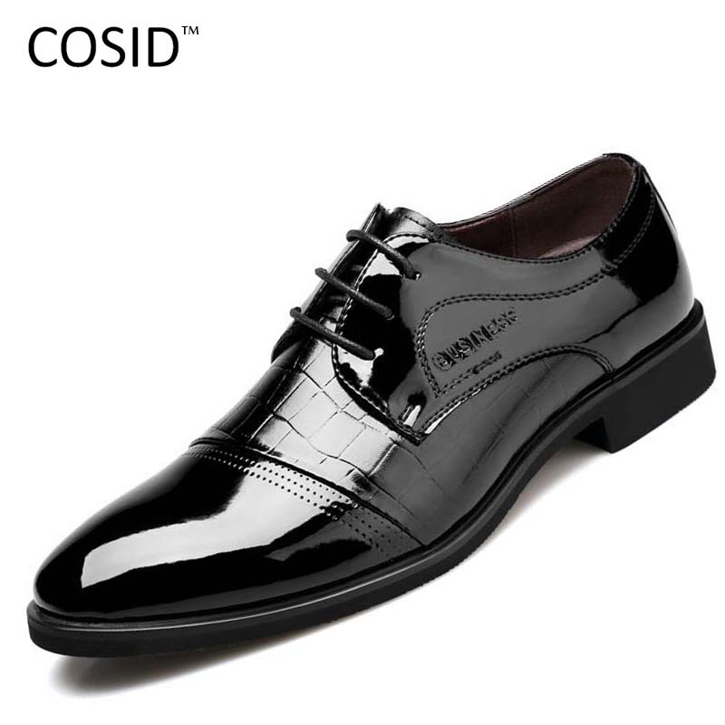 Hot Sale New Fashion Men Leather Shoes Mens Oxfords Spring/Autumn Men Casual Flat Patent Leather Oxford Shoes For Men BRM-141(China (Mainland))