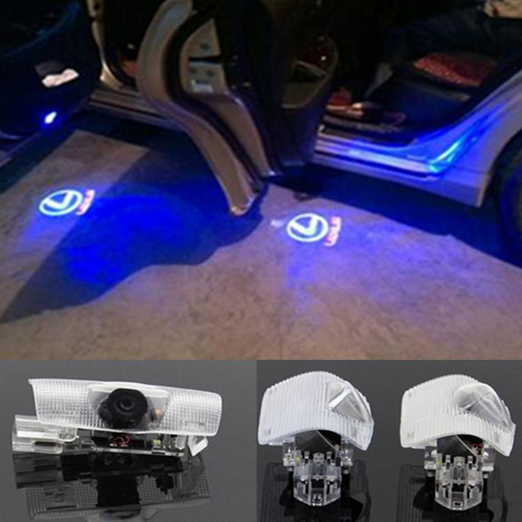 2xCar Door Welcome Light Lexus Laser Projector For LS ES GX570 LX RX IS250 GS ES GX IS LX RX27(China (Mainland))