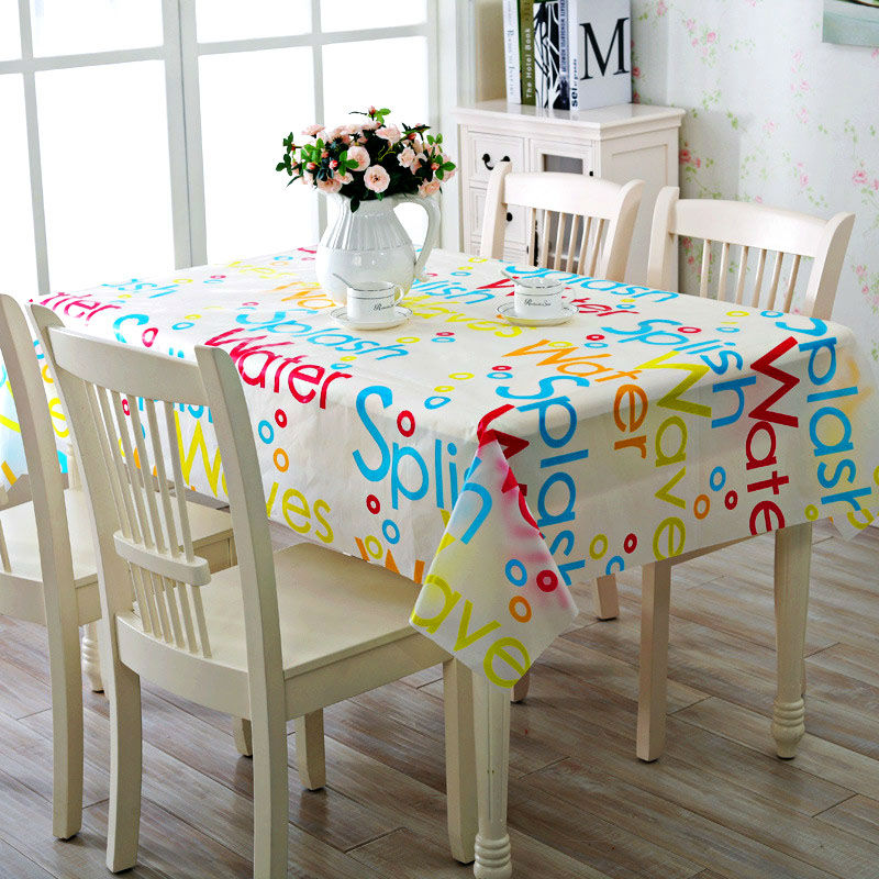 pvc vinyl tablecloth colorful fashion rectangular wipe clean oilcloth