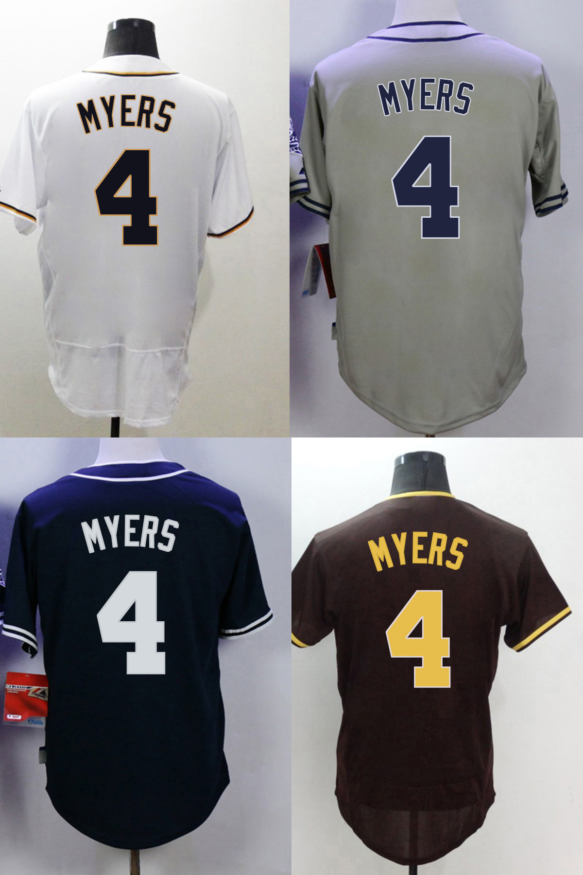 SD #4 Wil Myers Jersey Top-quality Stitched Jerseys short sleeve(China (Mainland))