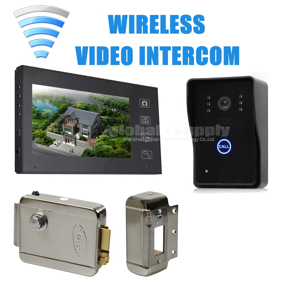 7inch Wireless Video Door Phone Doorbell Intercom System Touch Key Electronic Lock Home Security Entry Intercom SY806MJW11(China (Mainland))