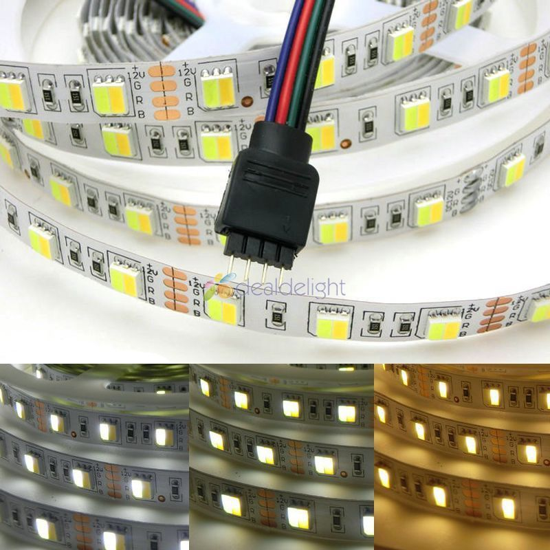 LED strip 5M reel 12V 5050 300 smd led CCT color temperature adjustable and dimmable strip white+warm white in 1 chip LED strips(China (Mainland))