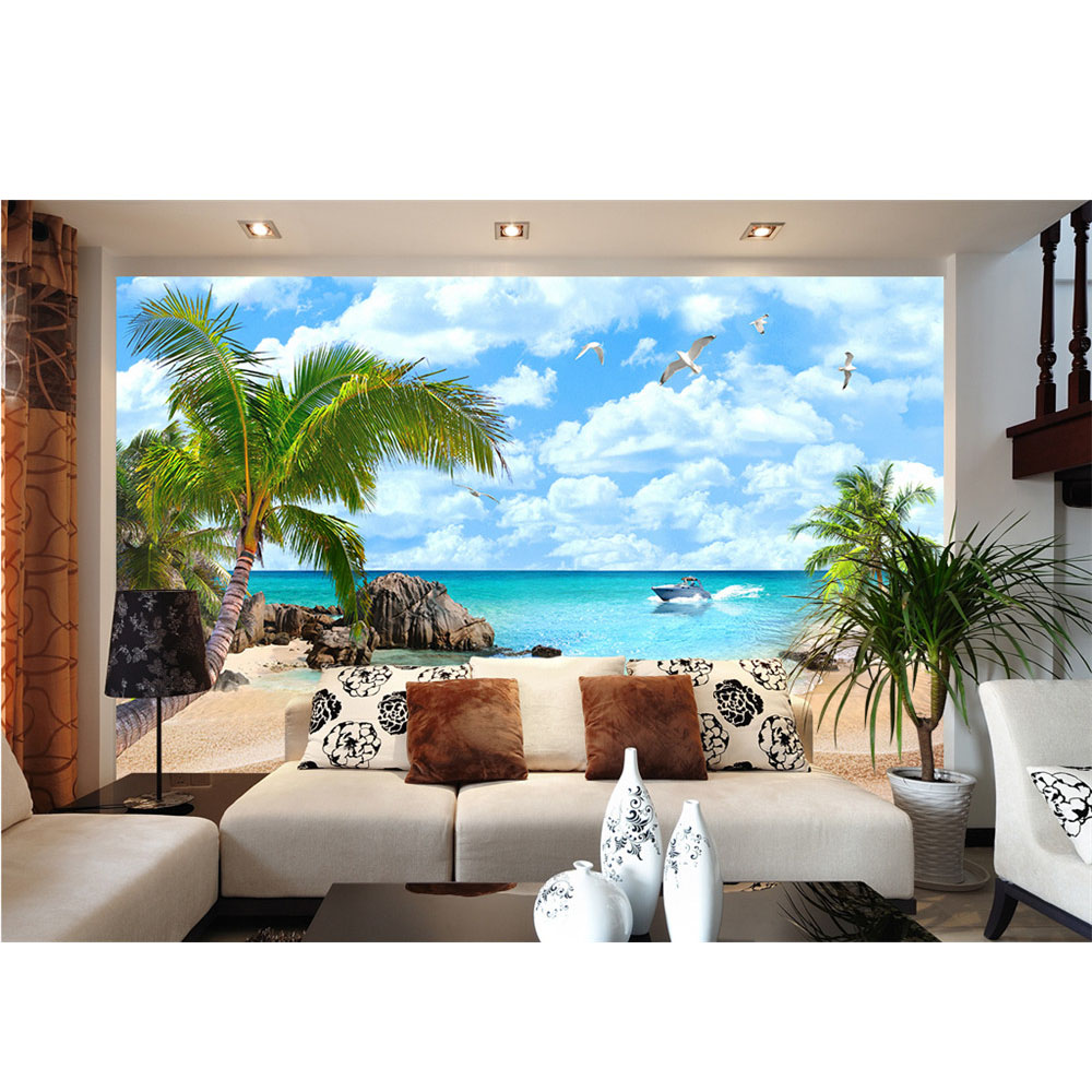 Popular palm trees photos buy cheap palm trees photos lots for Diy photographic mural