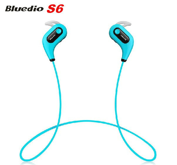 Original Bluedio S6 Music Bluetooth 4.1 Stereo Headset Headphone Wireless Earbuds Sports Earphone with Mic Hands Free for Iphone