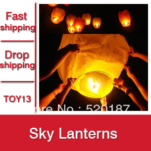 10pcs Chinese Sky Lantern, Loving Lanterns, Wishing Lamp For Party & Wedding -- TOY13 Wholesale & Retail