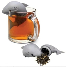 Modern Design silicone shark shape Teapot cute tea infuser /Tea Strainer/Coffee & Tea Sets maker set cup decoration tea bag gift