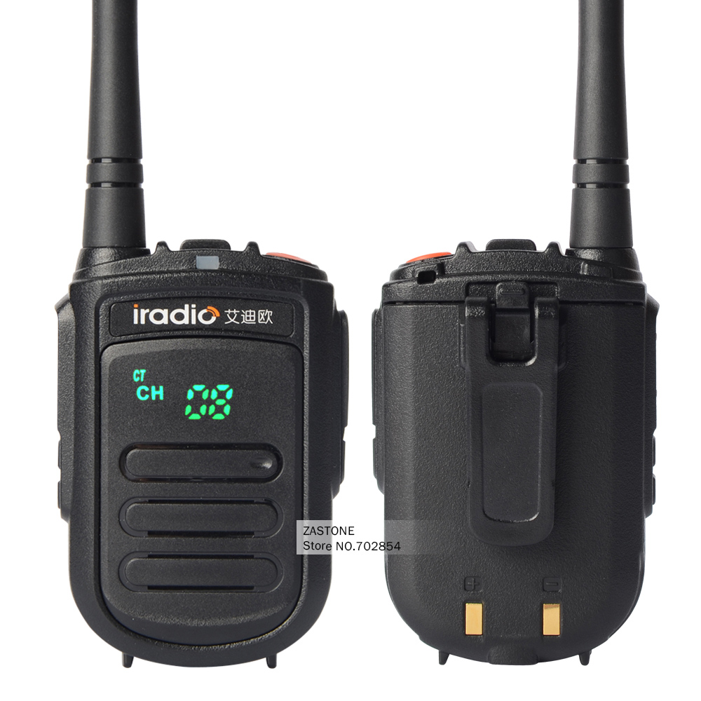2pcs/lot IRADIO CP-168 Mini Portable Radios 400-480HMz UHF Two Way Radio CB Walkie Talkie Transceiver Handheld Ham Radio Antenna(China (Mainland))