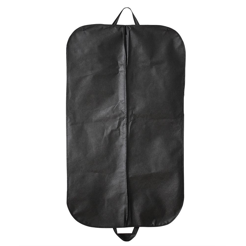 Black Suit Dress Coat Shirt Garment Clothes Storage Bag Travel Carrier Cover Dustproof Hanger Protector(China (Mainland))