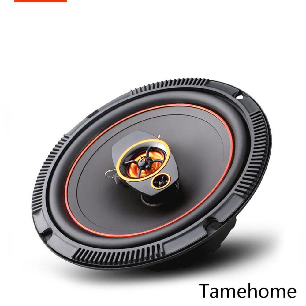 Фотография Tamehome 2-way Coaxial orange 6.5 inch Car Speaker Tweeter Host Dropshipping Car High Power Bass Audio Speakers Automotive Auto
