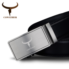 Buy COWATHER 2017 men's fashion 100% cow genuine leather belts men high belt automatic buckle strap male free for $11.97 in AliExpress store