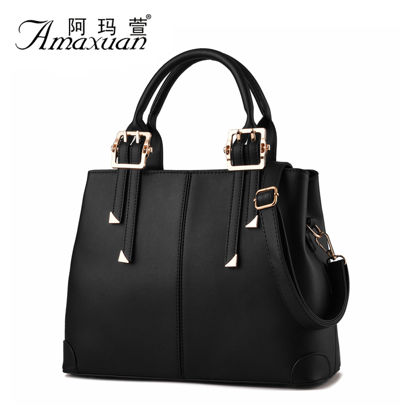 2015 European And American Style Casual Women PU Leather Handbag Crossbody Women Messenger Bags Ladies Shoulder Bag Tote BH1149