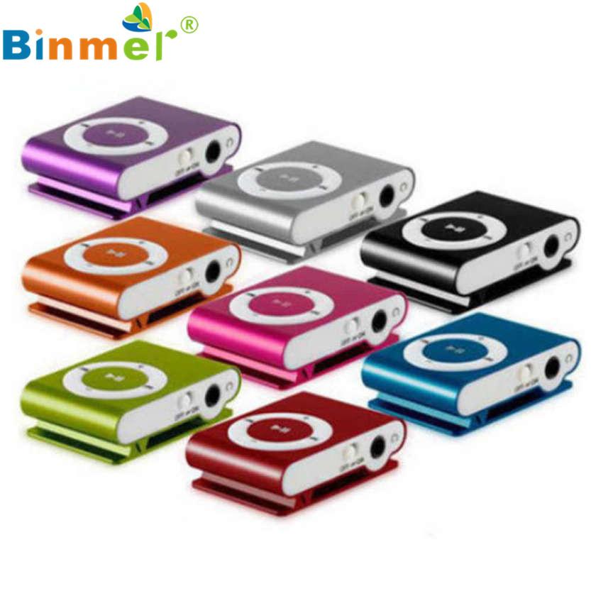 Binmer 1-8GB Support Micro SD TF Mini Clip Metal USB MP3 Music Media Player Oct 10 6*