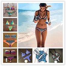 bikini 2015 print swimsuit biquini triangl swimwear bikini summer style bikinis maillot de bain bathing suit push up bikini(China (Mainland))