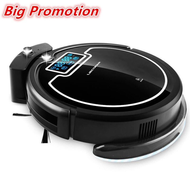 (Russia Big Discounts) Hot Sale Wireless Auto Robot Vacuum Cleaner For Home,with Water Tank,Wet&Dry,TouchScreen,Schedule,Virtual(China (Mainland))