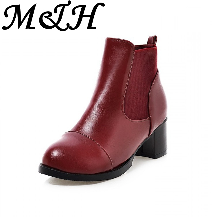 New 2016 Fashion Women Ankle Boots High Heel Platform Boots