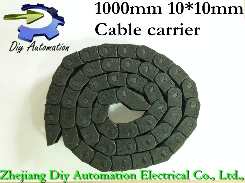 Free shipping 1pcs 10mm*10mm CNC Plastic cable drag chains TP10*10 cable carrier Towline for CNC Router Machine Tools(China (Mainland))