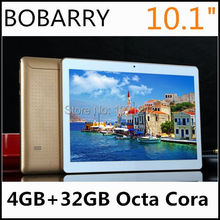 2016 New 10.1 inch Octa Core 3G 4G LTE Tablet 4GB RAM 32GB ROM 1280*800 Dual Cameras Android 5.1 Tablet 10.1 Free Shipping