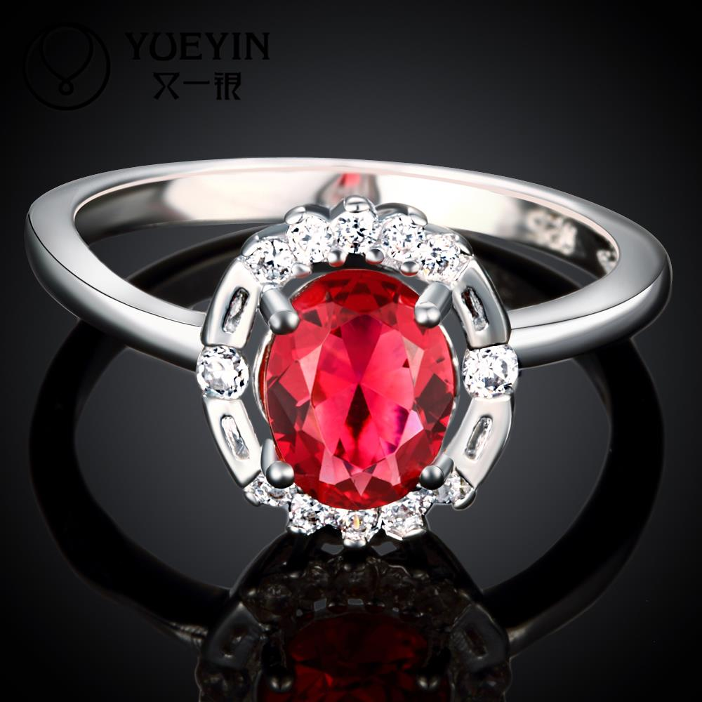 R031 New Arrival fine jewelry 925 sterling silver ring ruby jewelry wedding rings for women aneis