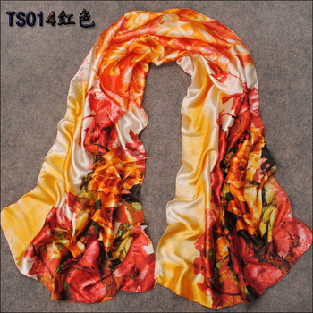 160*50cm 2015 New Fashion Multicolour Spring And Summer Super Smooth Long  Faux Silk Scarf Air Conditioning Towel