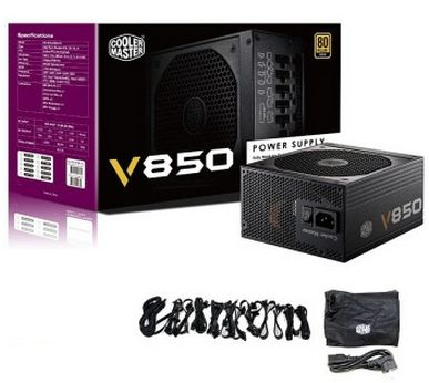 CoolerMaster 850W 90~264VAC input full modular 80Plus Gold ATX PC PSU power supply unit V850 RS-850-AFBA(China (Mainland))