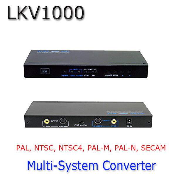LKV1000 Multi-system PAL NTSC SECAM to PAL NTSC Composite Digital System Audio Video Converter(China (Mainland))