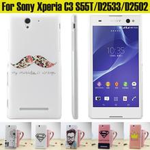 Buy JURCHEN Case Sony Xperia C3 Dual D2502 D2533 S55t Case Cute Cartoon Fashion Hard Cover Case Sony Xperia C3 Case stock for $1.44 in AliExpress store