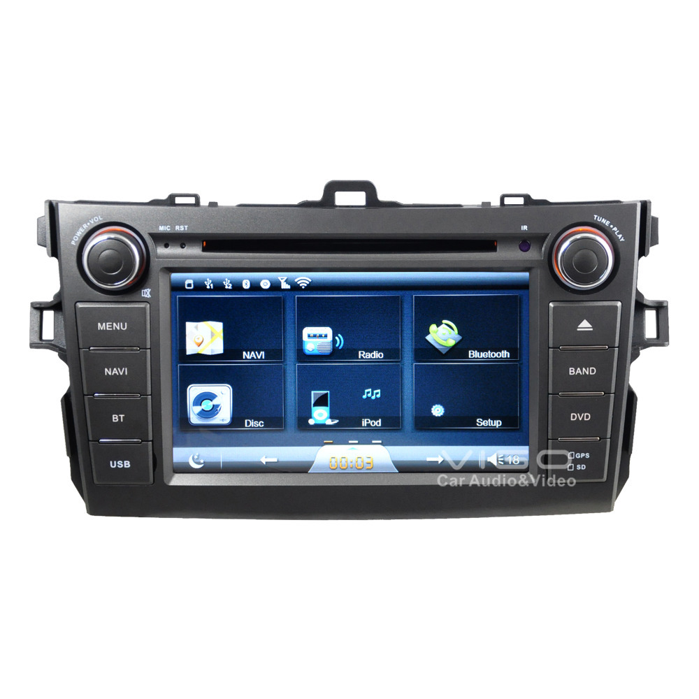 Car Stereo GPS Navigation for Toyota Corolla 2007-2011 Auto Multimedia Headunit Sat Nav Autoradio Radio RDS DVD Player Bluetooth(Hong Kong)