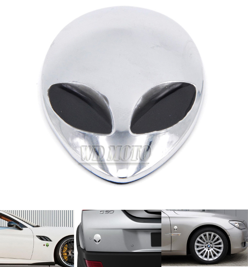 3D Car Stickers Metal Alien Emblem Badge Car Styling motorcycle Car Accessories for bmw mazda 6 opel peugeot ford focus 2 3 vw(China (Mainland))