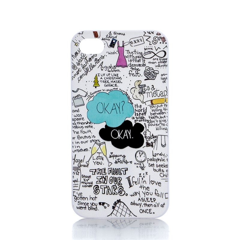 Luxury New Fashion Brand New Original OKAY Design Hard Plastic Back Mobile Phone Case Cover For Iphone 4 4S 5 5S 5C 6 6 Plus