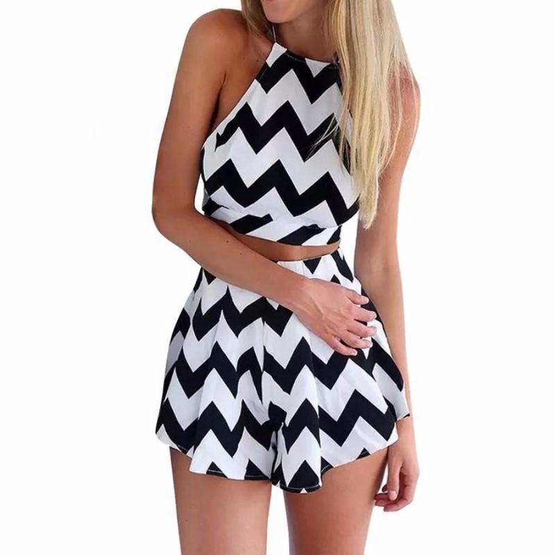 2016 summer crop top and skirt set 2 set