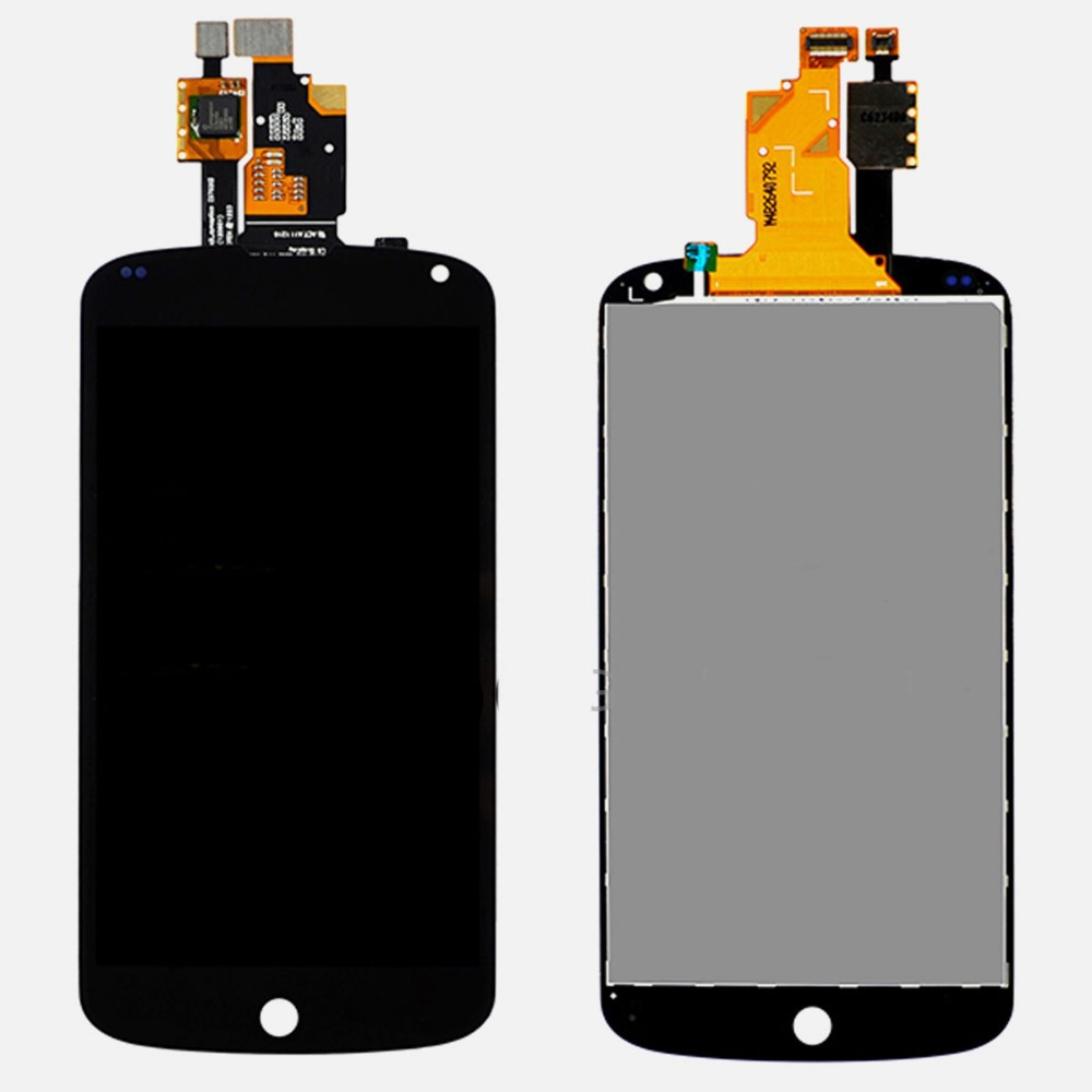 100% Original For LG Google Nexus 4 E960 LCD Touch Screen with Digitizer Assembly Best Quality FULL Screen