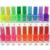 20Pcs/Lot 20colors Popular Luminous Nail Polish Nail Art / Fluorescent Nail Enamel Makeup Paint Glows In The Dark