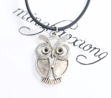 Buy New Fashion Pop Women Girl Jewelry Vintage Alloy Silver Owl Pendant Necklace Charms Cords Chain 12pcs for $14.99 in AliExpress store
