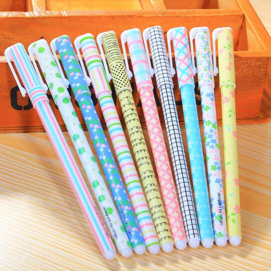 New 10 pcs/set flower  gel ink pen / Fashion pen with PVC packaging / Wholesale
