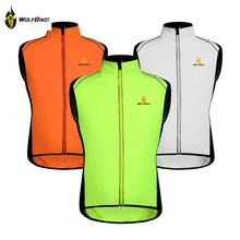 WOLFBIKE Cycling Jersey Men Riding Breathable Vest Jacket Hiking Bicycle Cycle Clothing Bike Sleeveless Vest Wind Coat Jacket