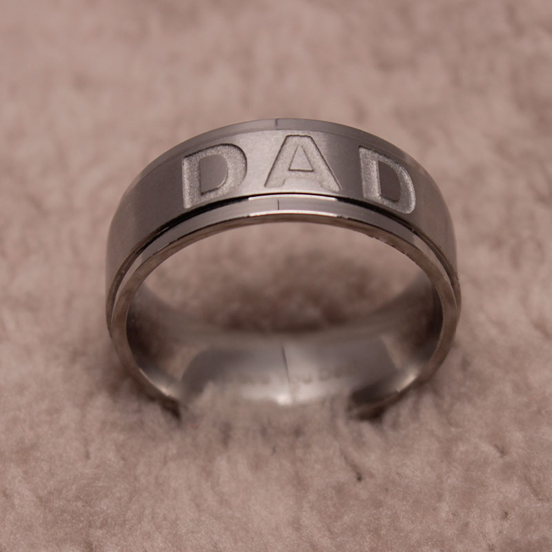 New Arrive Stainless Steel Dad Ring Engraved Love You Dad. Steel Damascus Wedding Rings. Enso Rings. Consecutive Rings. Halo Wedding Rings. Mayor Engagement Rings. Blue Stone Wedding Rings. Dermal Piercing Wedding Rings. Dark Purple Wedding Rings