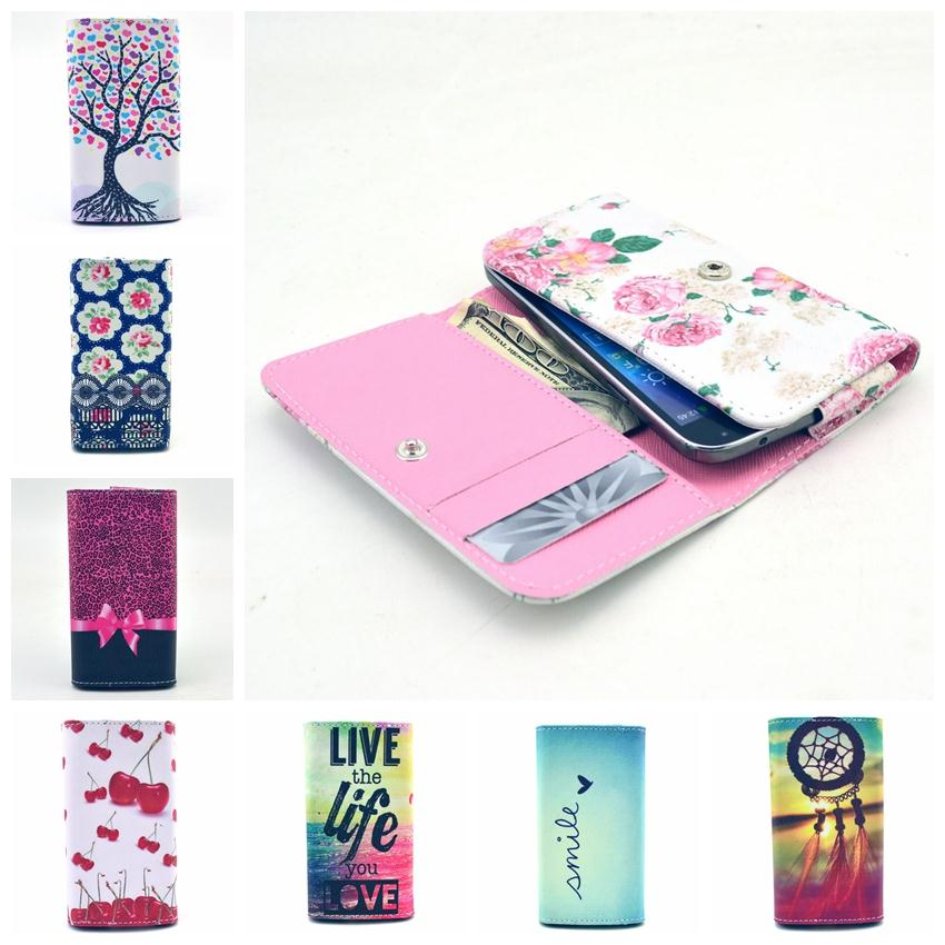 For Multi Phone With Card/Money Slot Fashion man/woman Art Painting Flip Wallet PU Leather Universal hand purse Bag Case Cover(China (Mainland))