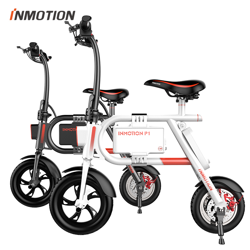 original INMOTION P1 electric bicycle folding bike with led light smart ebike sport cycling adult e bike with parking stand(China (Mainland))