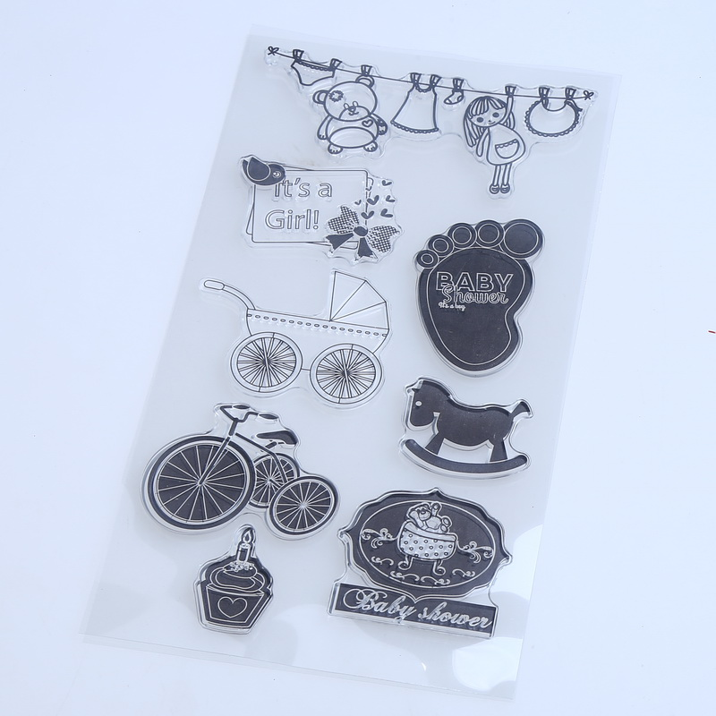 1PCS/LOT Transparent Stamp Baby Style For DIY Scrapbooking(China (Mainland))