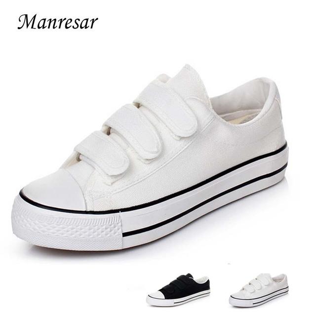 2016 Новый прибыл Классический белый черный Унисекс мужские ботинки холстины женщин ...