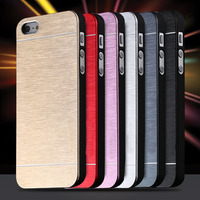motomo 고급스러운 골드 금속 브러시 커버 아이폰 5 95 5g 전화 주택 쉘 휴대용 알루미늄 하드 다시 패션 케이스
